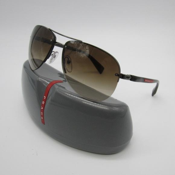 65d6e1e081 Prada SPS 56M Aviator Sunglasses Italy  ELL433. M 5ade2aaf2c705d2942355c96